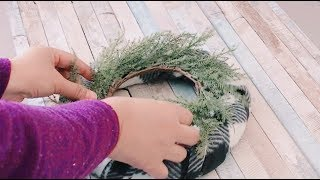 3 EASY DOLLAR TREE DIY WINTER DECOR | Faux Window Winter Wreath and Centerpieces (Bedscape Collab)