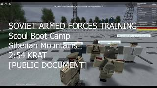 ROBLOX The Soviet Union: SAF tryout!