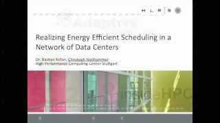 Realizing Energy Efficient Scheduling in a Network of Data Centers