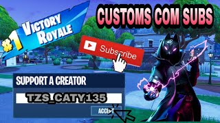 🔴 FORTNITE PT - CUSTOMS & SOLO/DUO/SQUADS!!! CODE:TZS_CATY135