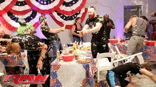 A Food Fight Erupts During WWE S Pre Raw Fourth Of July Barbecue Raw July 4 2016
