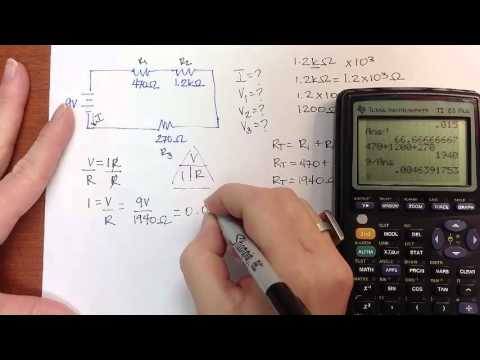 Series Circuit Practice Problem 1 Youtube