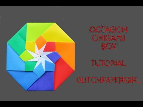 octagon origami box - tutorial - dutchpapergirl - YouTube - photo#19