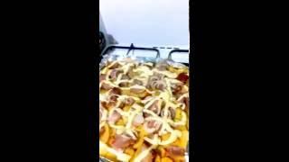 Свинина с кортошечкой под майонезом и сыром слоями в духовке