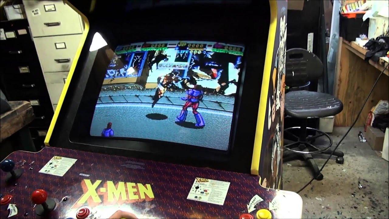 4 Player Arcade Cabinet Kit 306 Konami X Men Arcade Video Game 4 Player Version Tnt