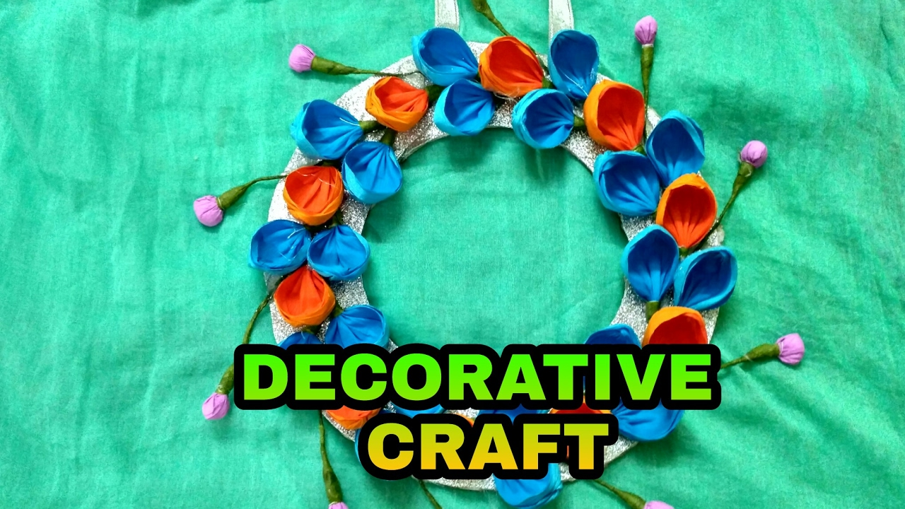 How to make decorative items with paper at home youtube for Decorative things