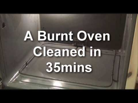 Cleaning a burnt oven with oil lift youtube How to clean top of oven