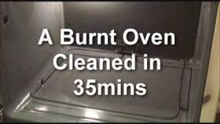 Cleaning a Burnt Oven with Oil Lift