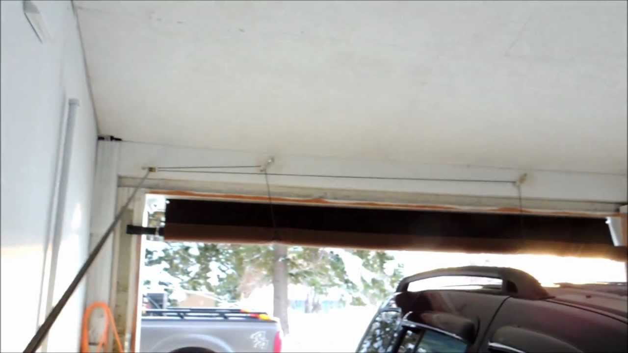roll up garage door screenCarport roll up door  YouTube