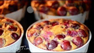 КЛАФУТИ - французский пирог с черешней (вишней) - простой рецепт - готовим дома кляфути