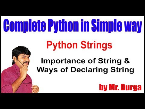Python Strings     Importance of String and Ways of Declaring String     by Durga Sir thumbnail