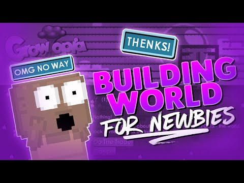 Helping Noobs - Building Farm/Storage World For Newbie | Growtopia