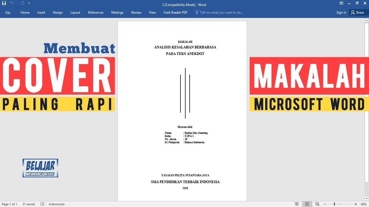 Cara Membuat Cover Makalah Dengan Microsoft Word Paling Rapi Untuk