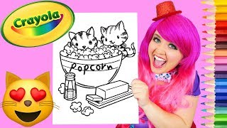 Coloring Popcorn Kitty Cats Crayola Coloring Page Prismacolor Pencils | KiMMi THE CLOWN