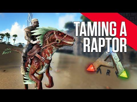 ARK: Survival Evolved - Taming a Raptor