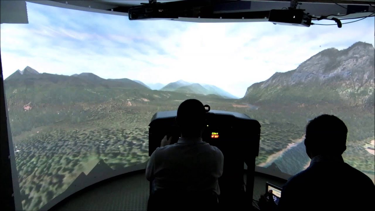 Cessna Flightsim With 180 Degrees Visuals Youtube