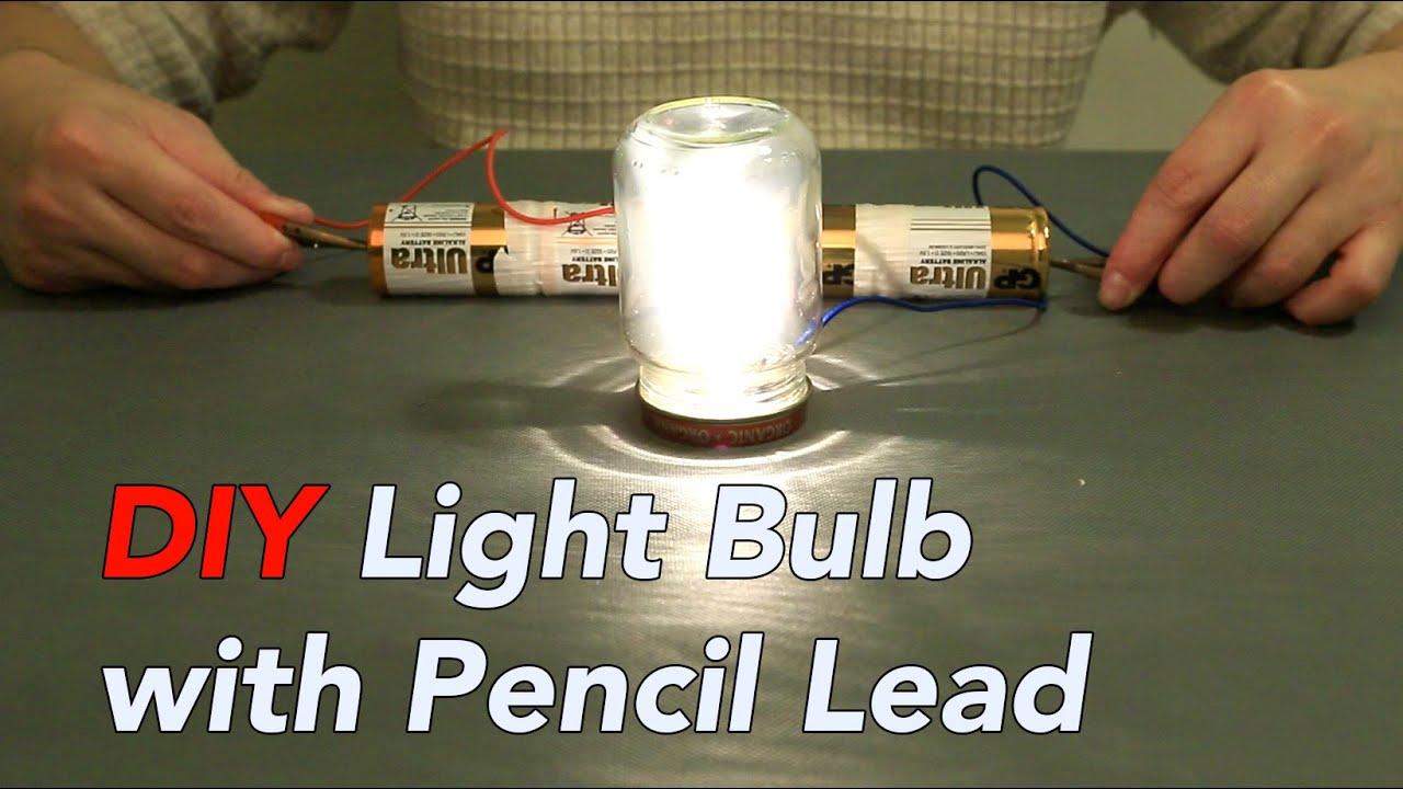 Interesting Light Bulb Experiment Using Pencil Lead