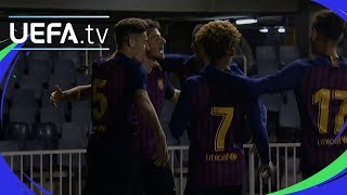 Highlights: Barcelona cruise into quarter-finals