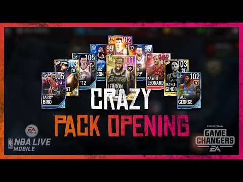 🔥 TWENTY 100+ OVR PULLS!!! 🔥 CRAZIEST NBALM PACK OPENING EVER?!?! - NBA LIVE Mobile