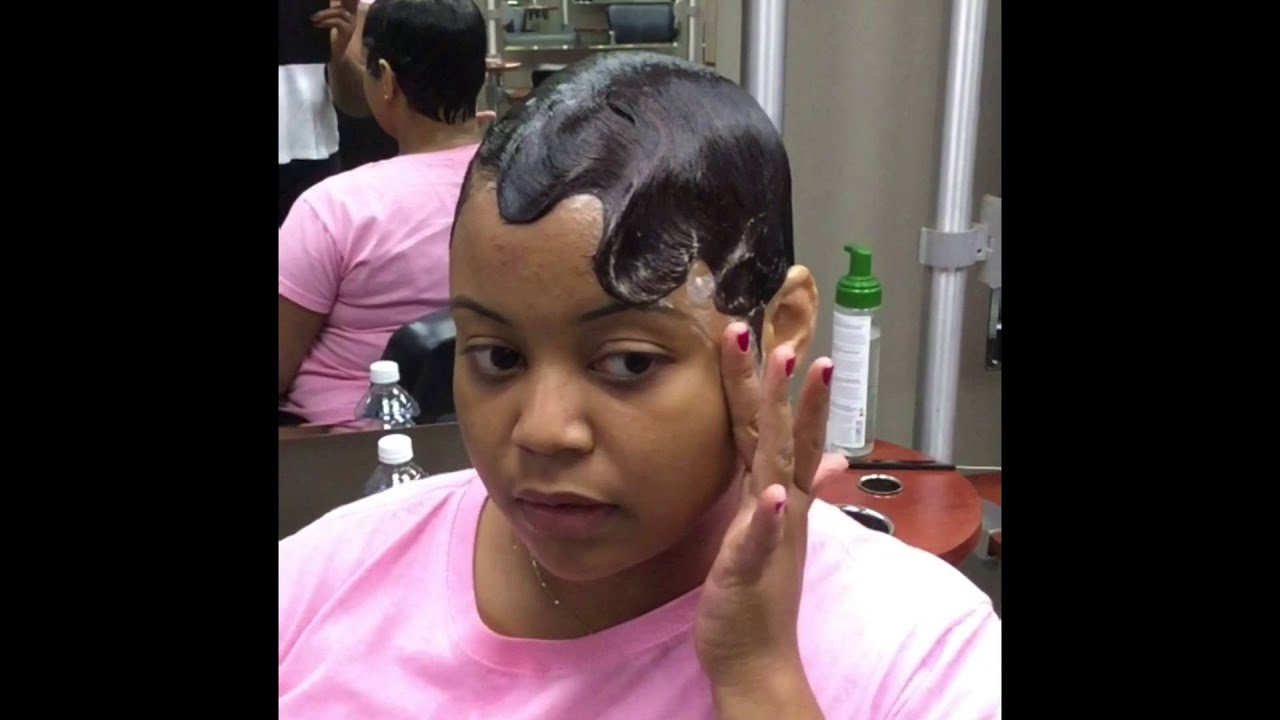 How to do Finger waves on short hair