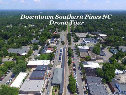 Downtown Southern Pines Drone Tour
