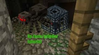 MCPE How To Make A Spider Xp Grinder/Farm