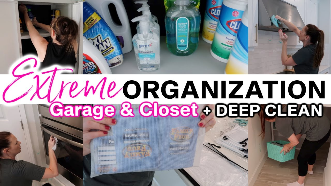 NEW! EXTREME DECLUTTER + ORGANIZE + DEEP CLEAN WITH ME FALL 2021 | GARAGE + CLOSET | HOMEMAKING