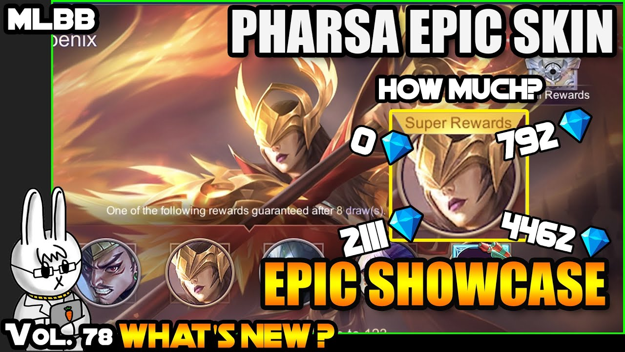 PHARSA EMPRESS PHOENIX - EPIC SHOWCASE EVENT - HOW MUCH DID WE SPEND?? - MLBB WHAT'S NEW? VOL. 78