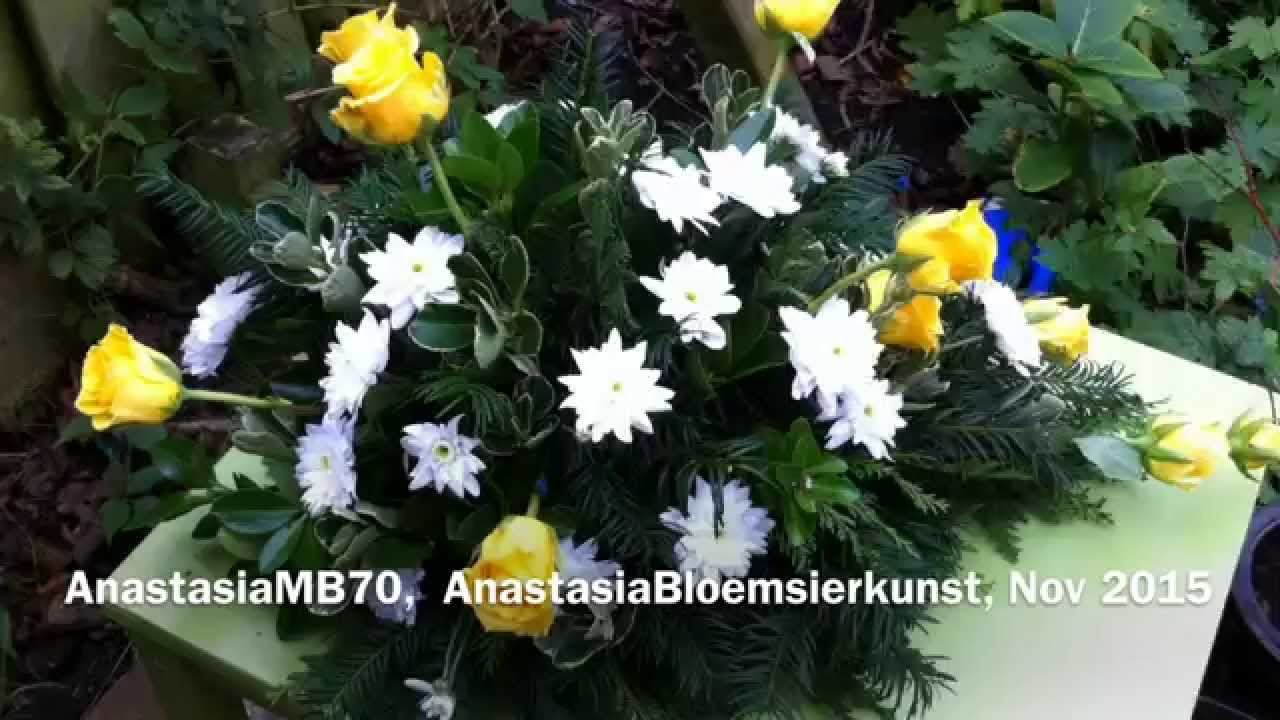 How To Make Funeral Flower Arrangement In A Shape Of A Water Drop