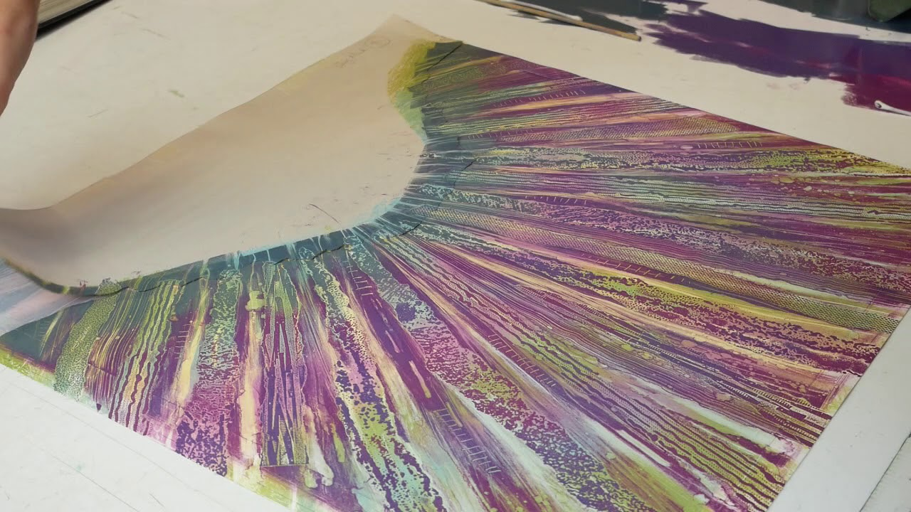Monotype printmaking or monoprinting with Rebecca Vincent