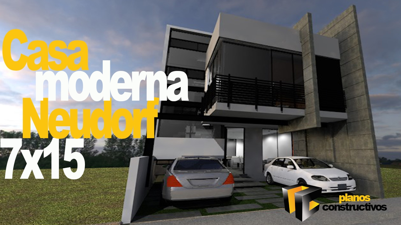 casa moderna minimalista neudorf en para terreno 7x15