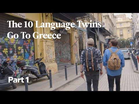 The 10 Language Twins Go To Greece | Part 1: Lost in Thessaloniki