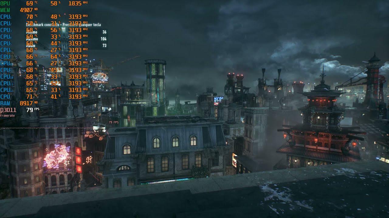 Teste Batman Arkham Knight Xeon E5-2667 + GTX 1070