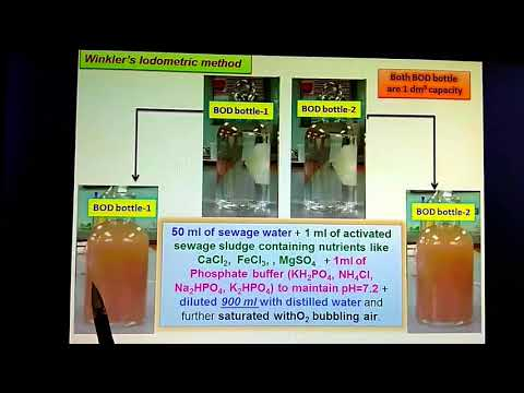 Biological Oxygen Demand (BOD) Of Waste Sewage Water :  Experimental Determination