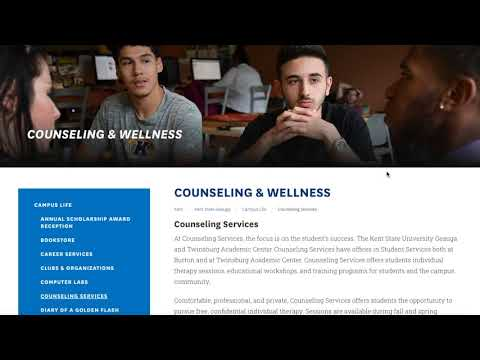 How-To Guide on Counseling at Kent State University Geauga and Twinsburg Academic Center