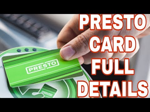 How To Travel In Canada (full Details) Presto Card