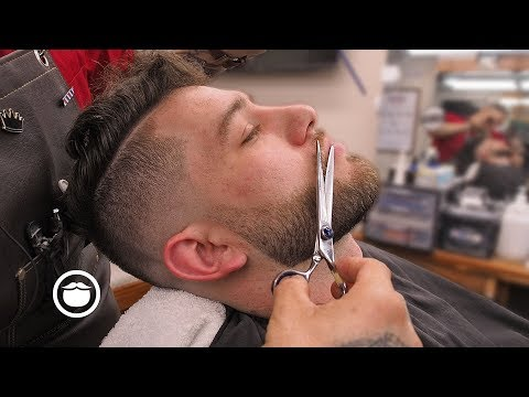 Low Bald Fade With Hard Part Haircut | South Austin Barber Shop