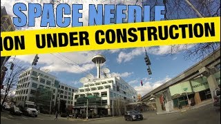 Space Needle Under Construction 2018 Seattle WA Draw sketch Space Needle iconic landmark
