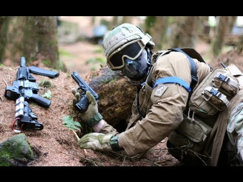 Airsoft War Games Action at Section8 Scotland
