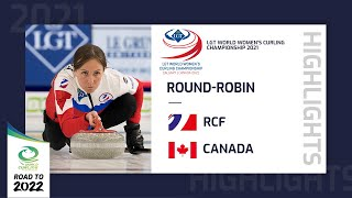 Highlights of RCF v Canada Round Robin LGT World Women s Curling Championship 2021