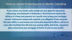 How to stop foreclosure in North Carolina