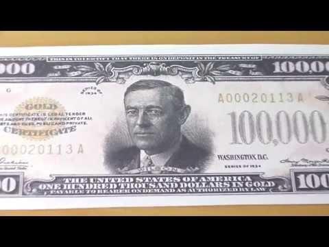 Wer war Woodrow Wilson ? - Der 100.000 US-Dollar Schein