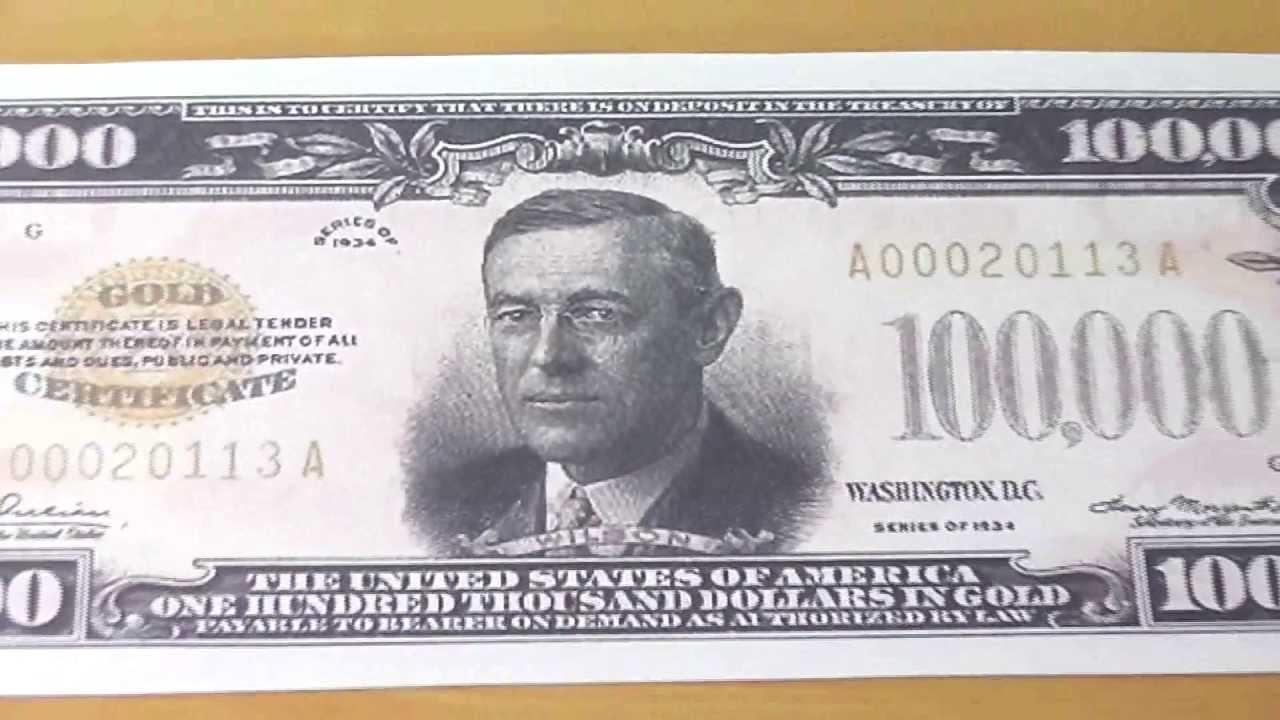 Wer War Woodrow Wilson Der 100 000 Us Dollar Schein Youtube