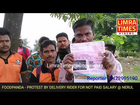 #FOODPANDA #DELIVERY #RIDERS #STRIKE & #PROTEST FOR NOT #PAID #SALARY@ #NAVI #MUMBAI #NERUL