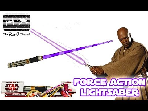 Mace Windu Force Action Electronic Lightsaber Rare Toy Review The Dan O Channel Youtube