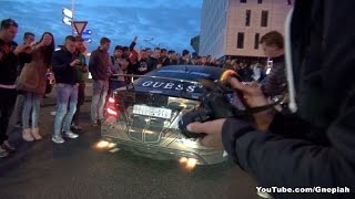 Mercedes C63 AMG Black Series spitting flames! - Team Galag Gumball 3000