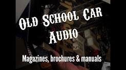 Old School Car Audio Literature Brochures Manuals Magazines