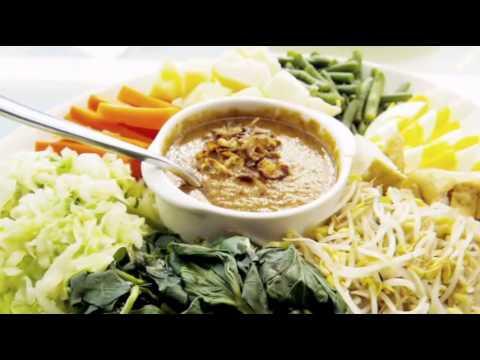 Gado gado กาโด กาโด อาหารประเทศอินโดนีเซีย