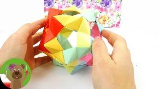 Gwiazda origami | prosta dekoracja świąteczna lub adwentowa | wprowadzenie do origami
