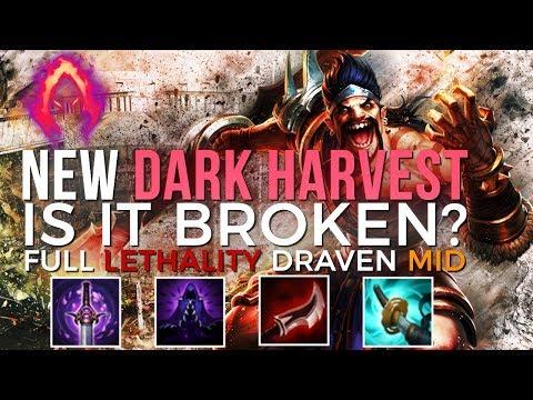 New DARK HARVEST ON DRAVEN | Full Lethality Dark Harvest Draven Mid